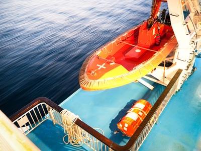 lifeboat on cruise ship