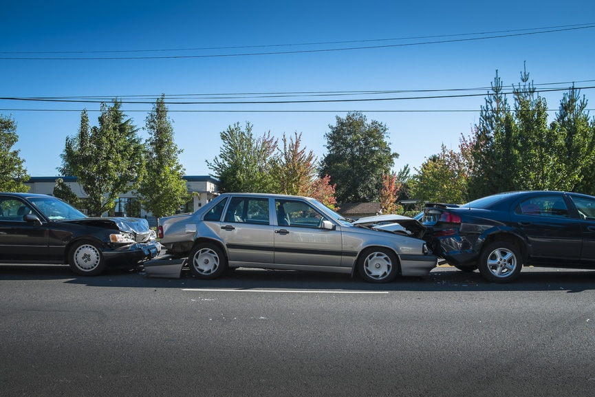 Multiple Vehicle Car Accident Claims In California