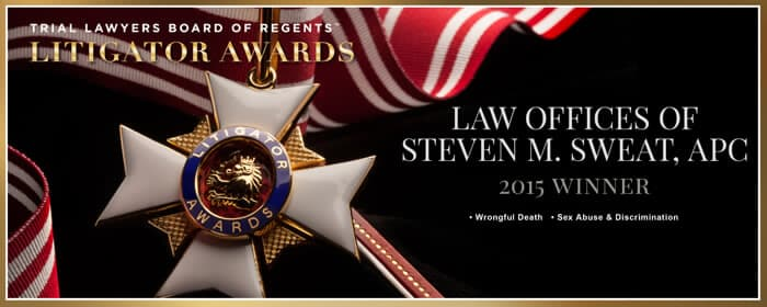 Litigator Award Received by Personal Injury Lawyer Steven M. Sweat