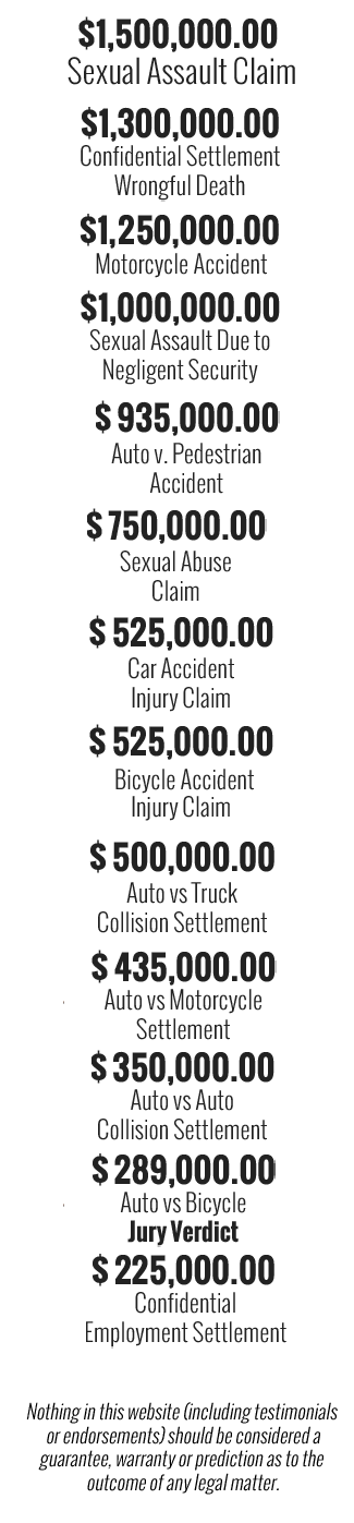 car accidents attorney los angeles ca steven m sweat apc settlements verdicts