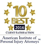 10 Best 2016 American Institute of Personal Injury Attorneys