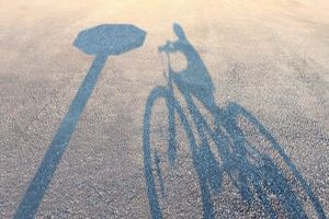 Shadow of a Child in a Bicycle